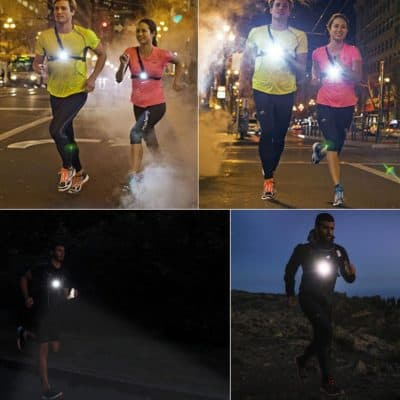 Sotical Chest Running Light, USB Rechargeable LED Running Night Light Waterproof Running Torch with 3 Lighting Modes for Runners, Joggers, Outdoor Sport,...
