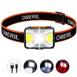 Linkax LED Head Torch Super Bright 120 Lumens LED for Running Camping Hiking, Best Head Torch