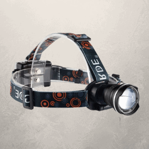 GRDE LED Bike Headlamp 1800 Lumens Zoomable Headlight Bulb  - Best Head Torches for Close Work